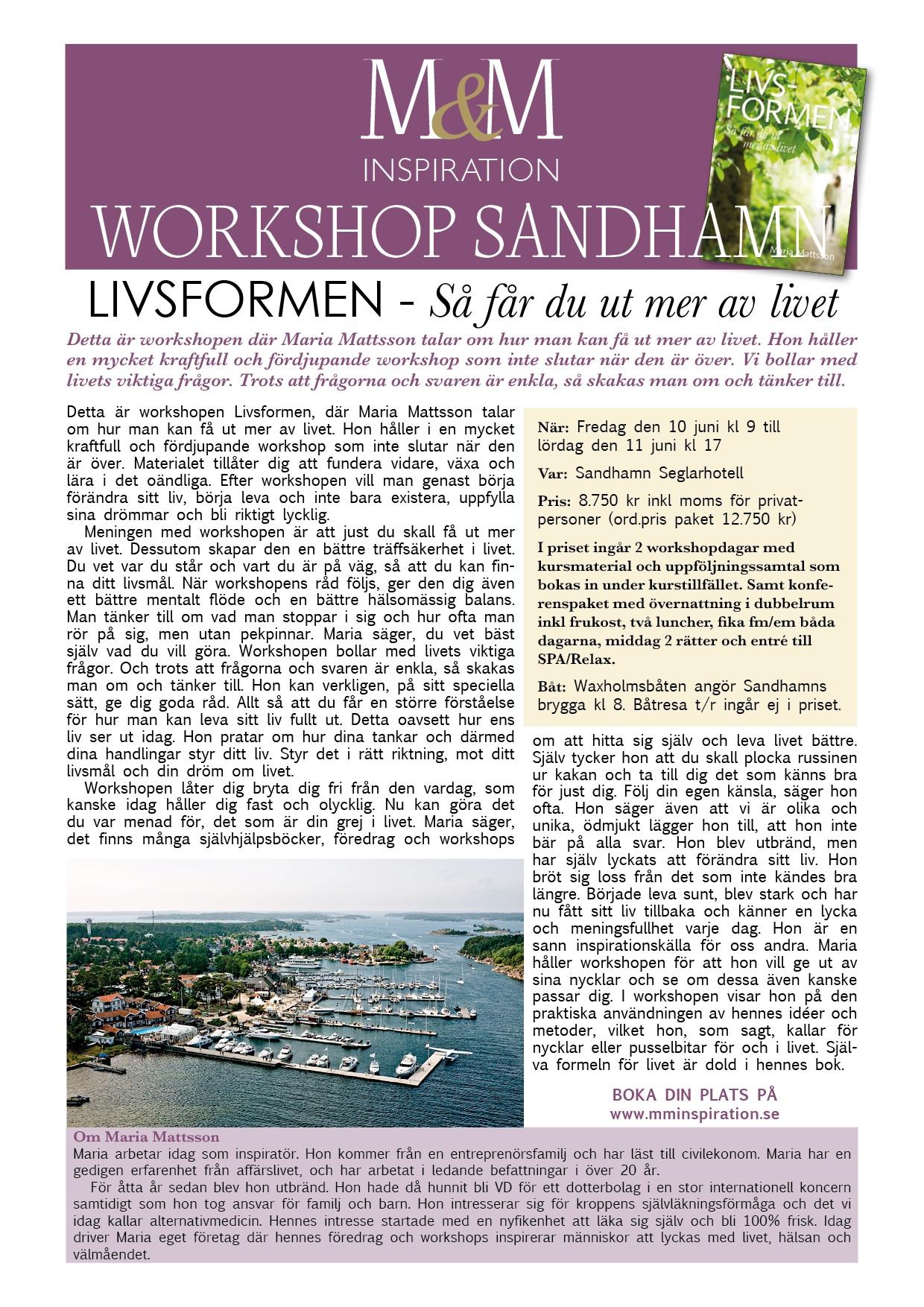 Affisch Workshop Sandhamn